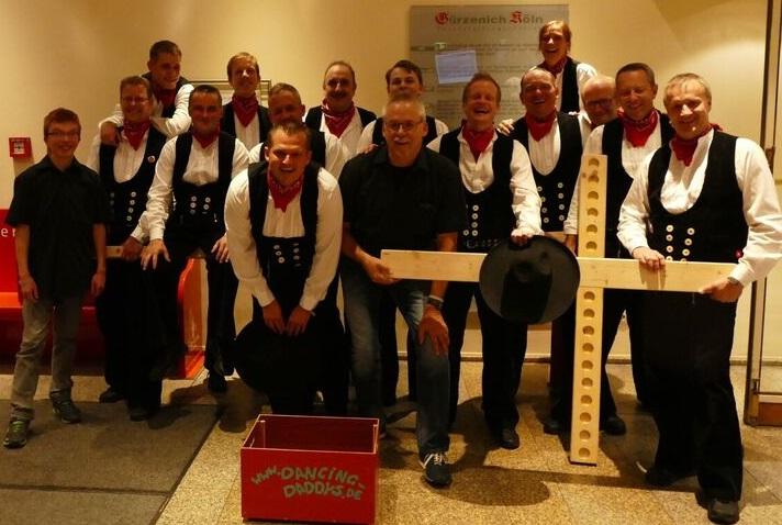 Auftritt der Dancing Daddys beim Mitarbeiter-Sommerfest der Sparkasse KölnBonn im Gürzenich in Köln am 02.09.2016