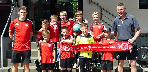 F-Jugend an einem internationalen Fußballturnier in Aalborg (Dänemark) teil