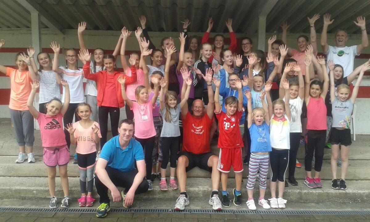 Weit über 30 Kinder aus der SVF Tanzgruppe legten das Sportabzeichen ab