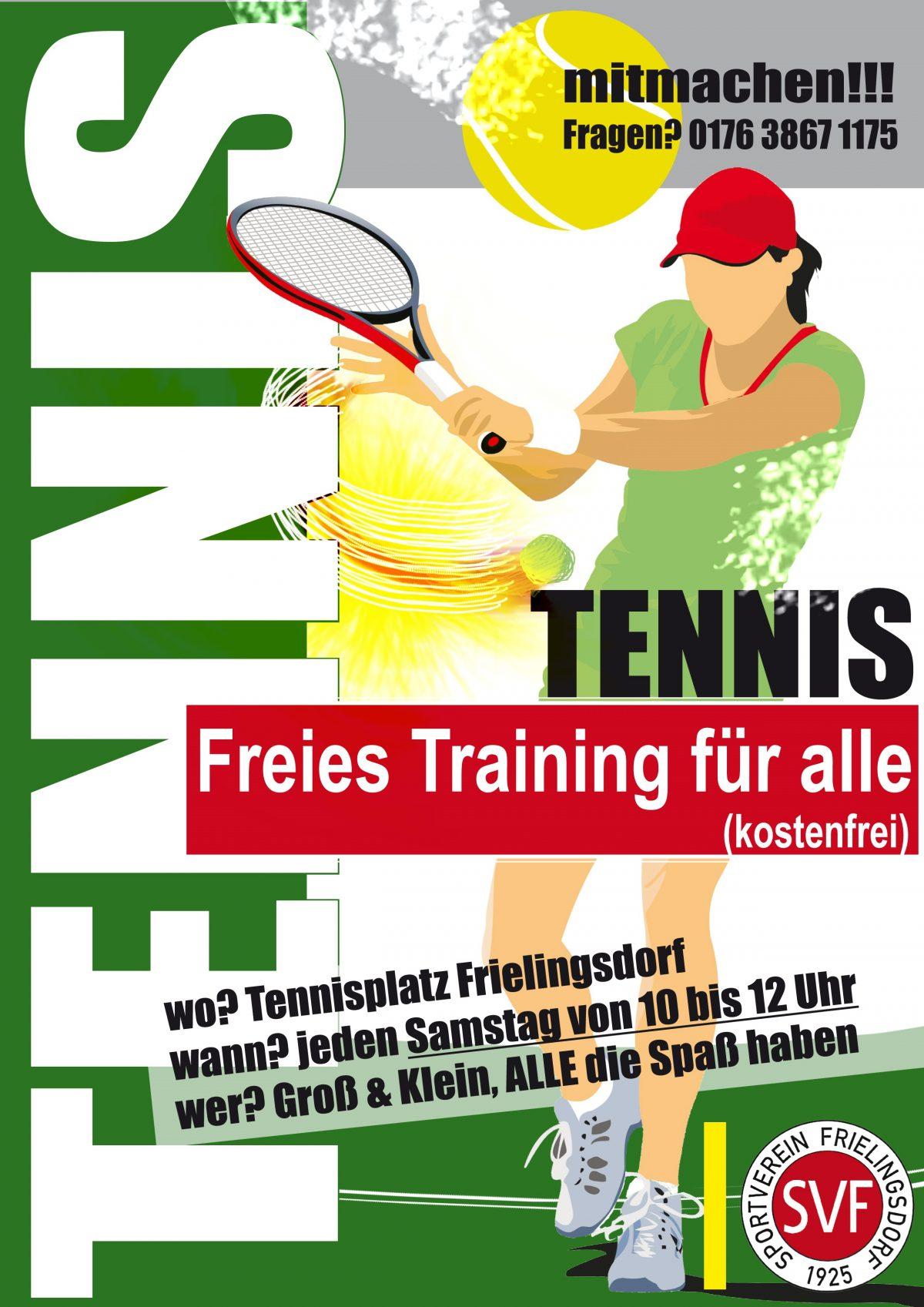 Tennis – Einladung zum Freien Training