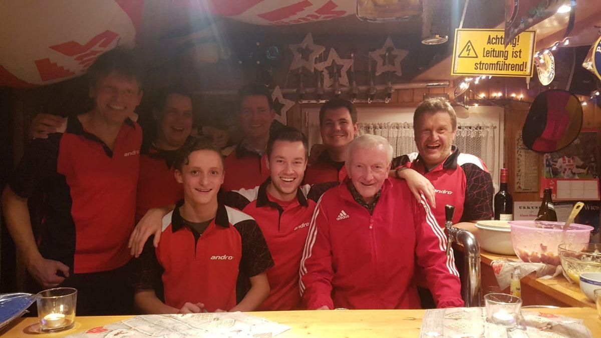 Tischtennis: Die 1. Mannschaft des SV Frielingsdorf                        ist Herbstmeister der Kreisliga Köln-rechtsrheinisch